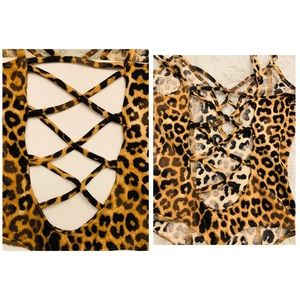 Express Tops - Express One Eleven Leopard Bodysuit